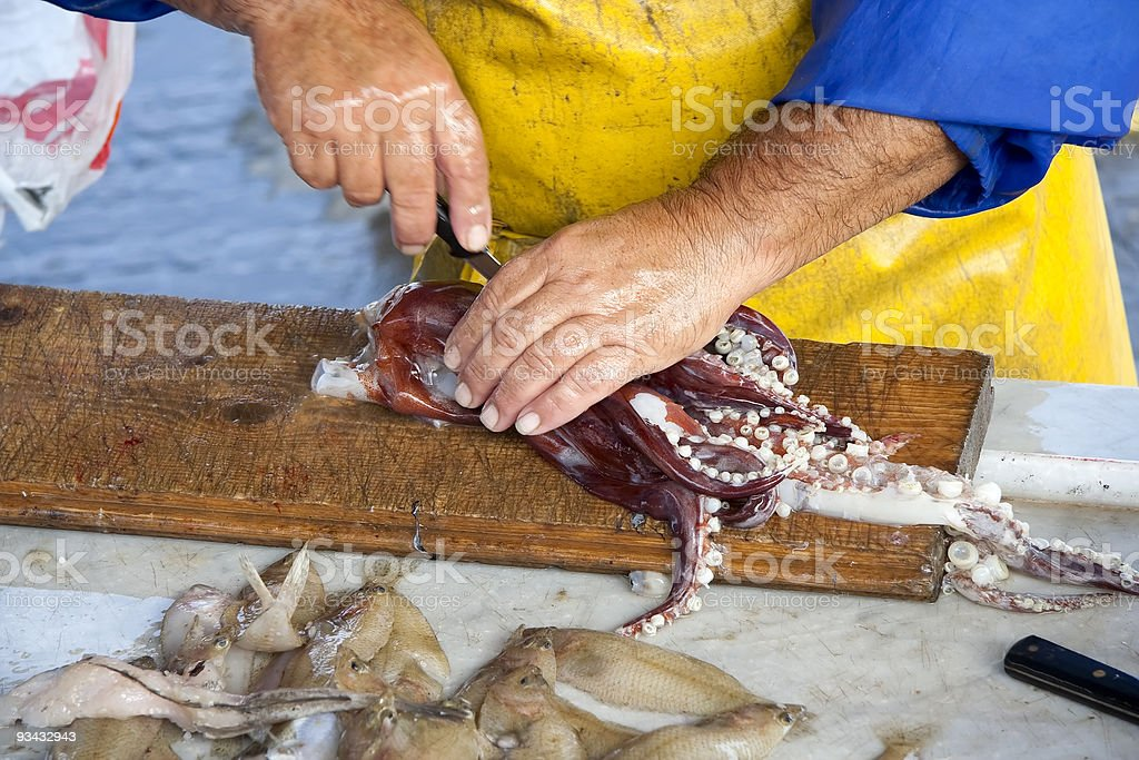 Fish market royalty-free stock photo