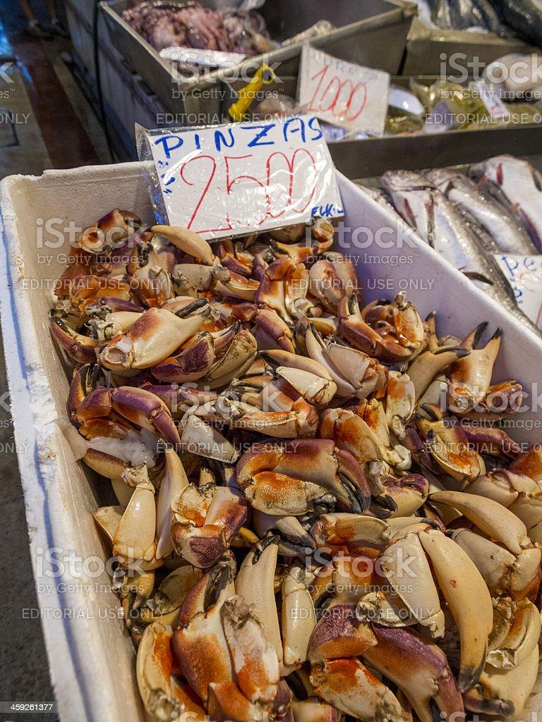 Fish Market, Santiago de Chile stock photo