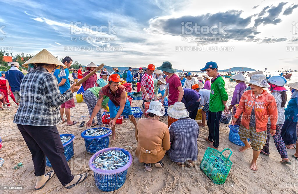 Fish market session seas scene stock photo