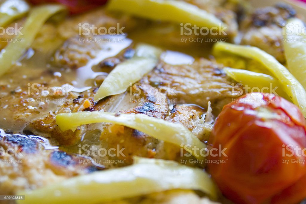 Fish meal stock photo