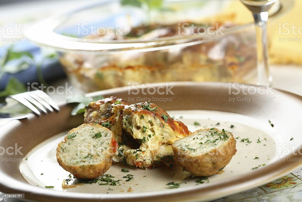 Fish meatball with spice royalty-free stock photo