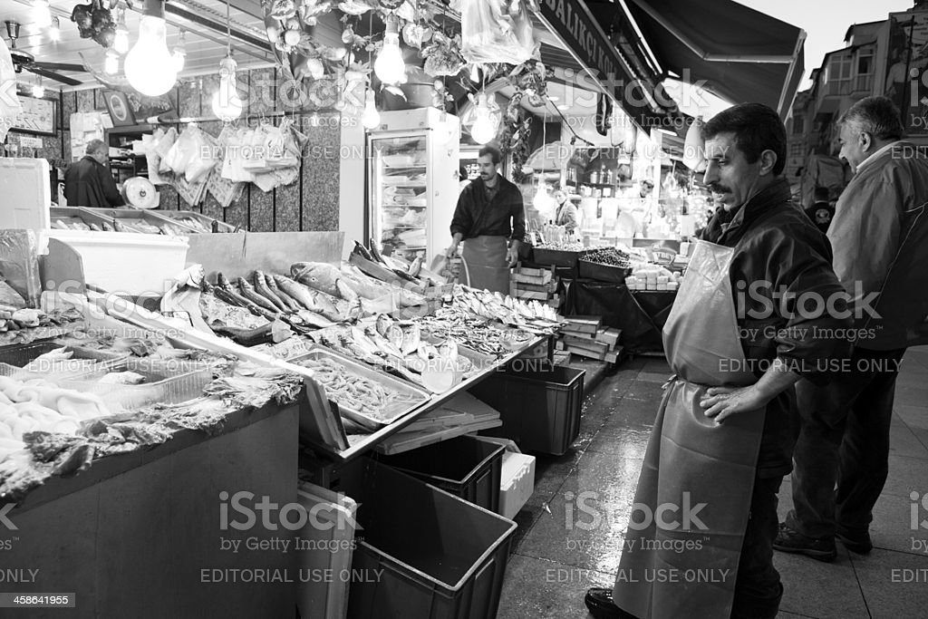 Fish monger royalty-free stock photo