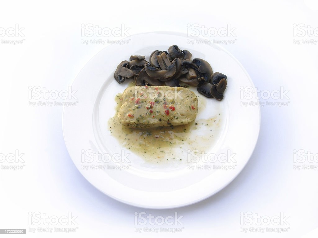 Fish & Mushroom royalty-free stock photo