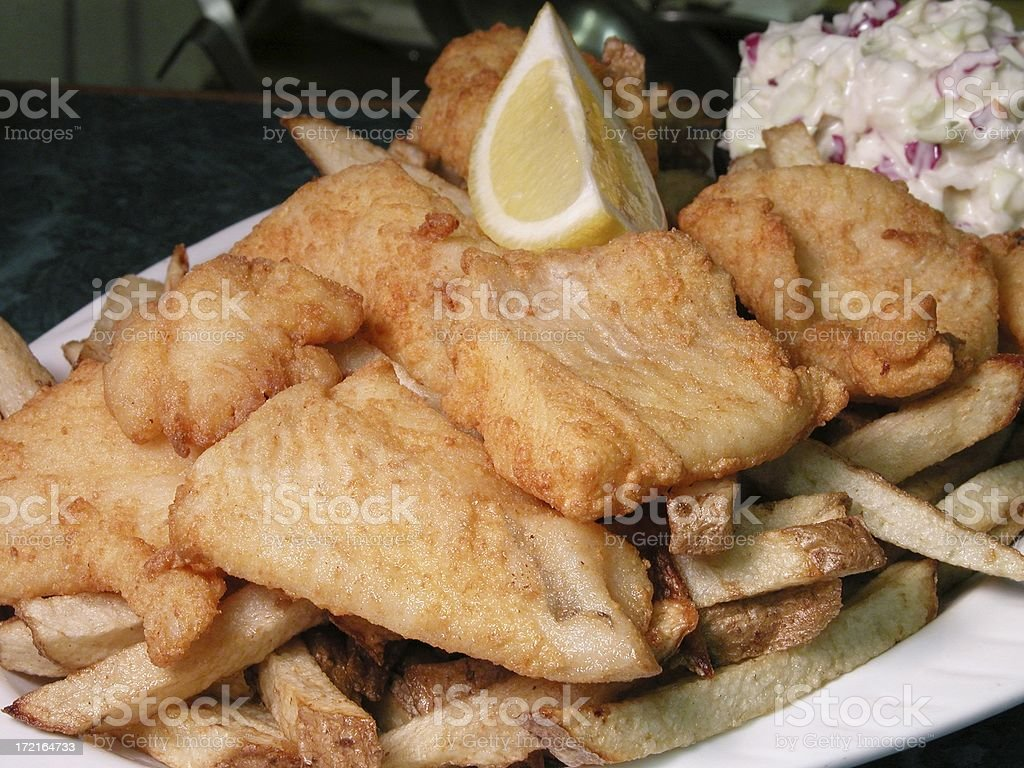 Fish N Chips royalty-free stock photo