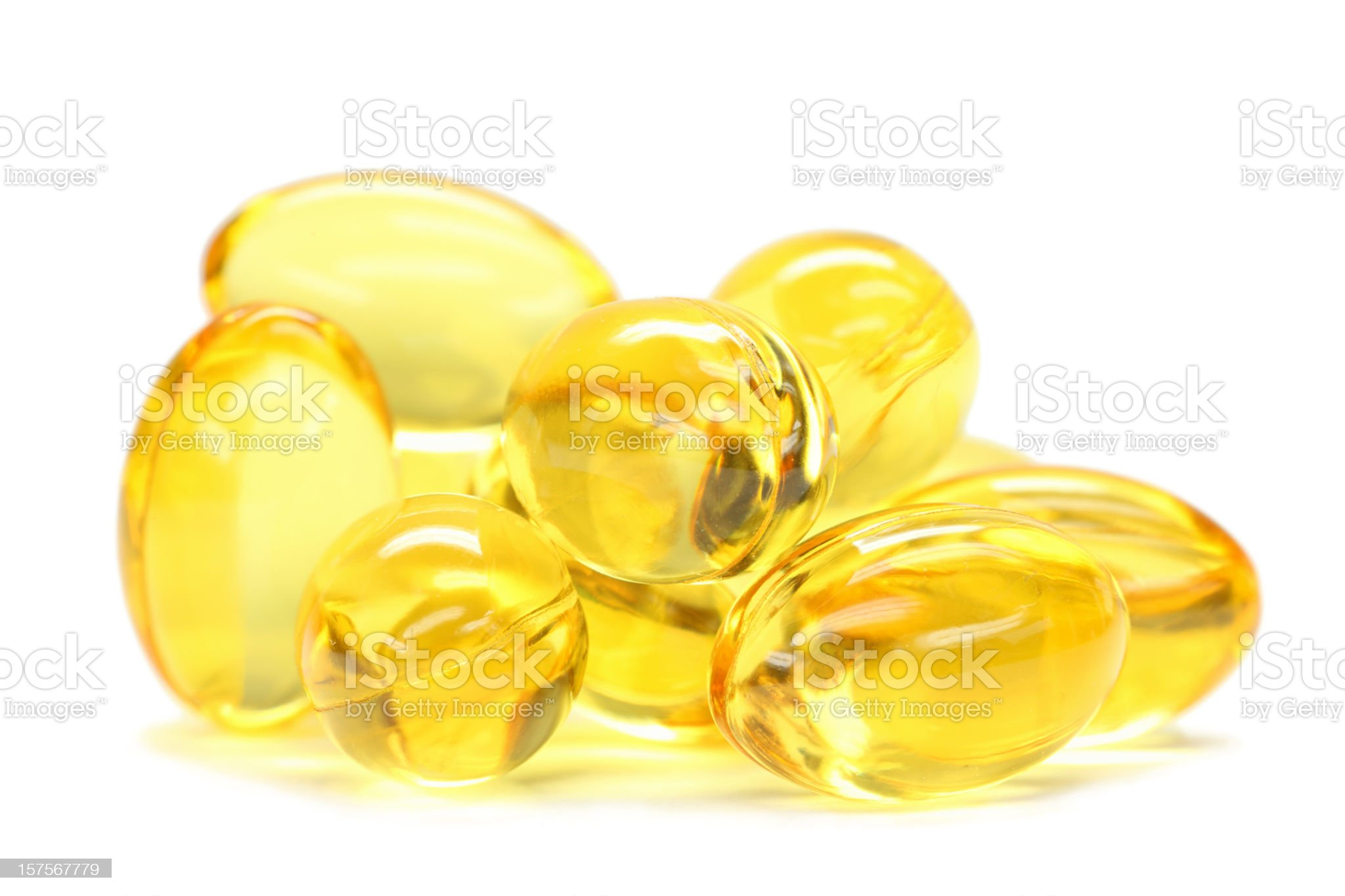 fish oil capsules isolated on white royalty-free stock photo