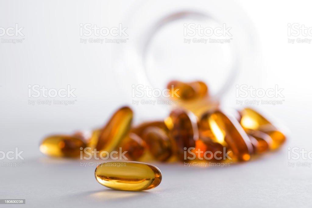 fish oil capsules royalty-free stock photo