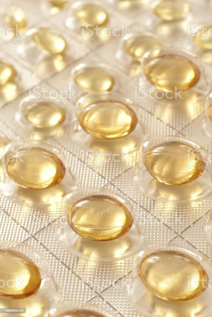 Fish oil pills royalty-free stock photo