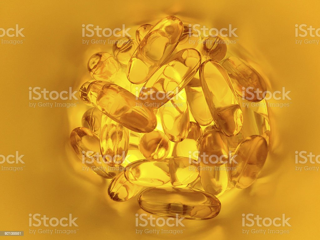 fish oils capsules royalty-free stock photo