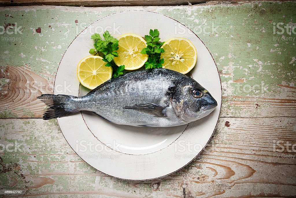 Fish on a Plate stock photo
