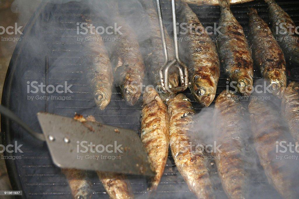 BBQ Fish royalty-free stock photo
