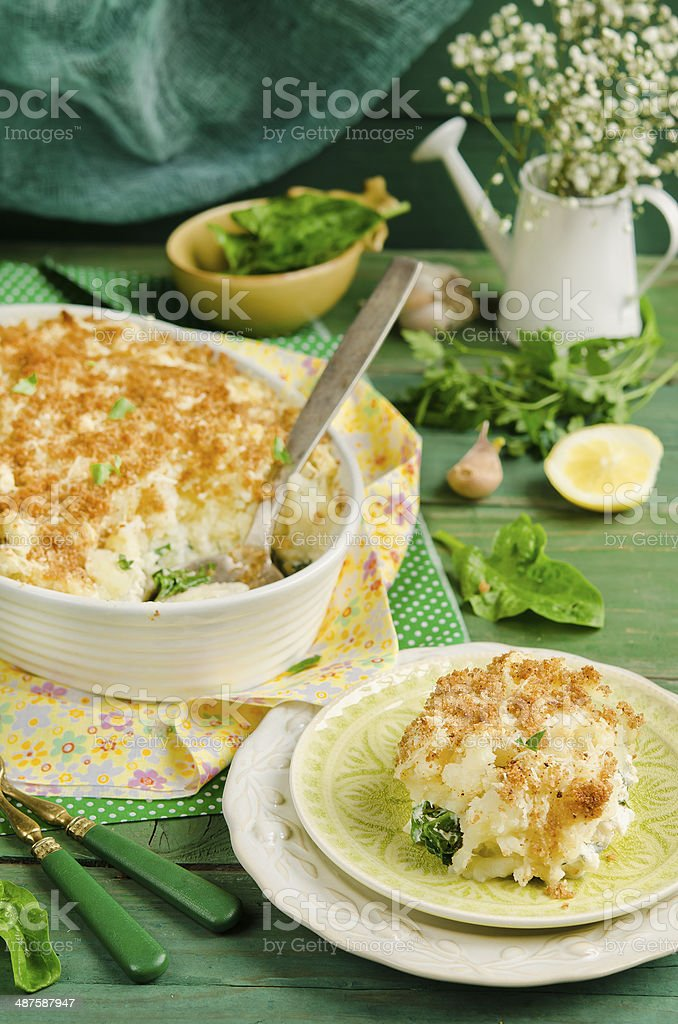 Fish pie stock photo