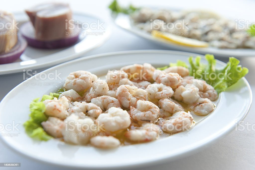 Fish plate on dinner royalty-free stock photo