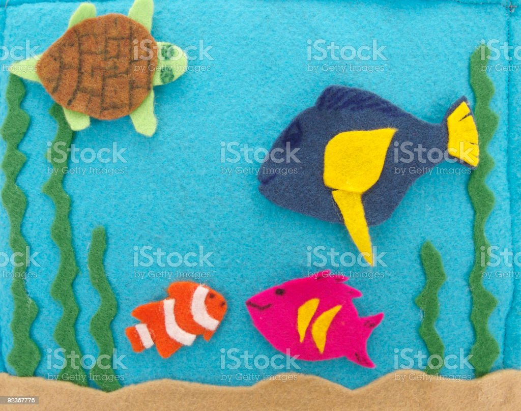 Fish Puppets -  Felt Storyboard3 royalty-free stock photo