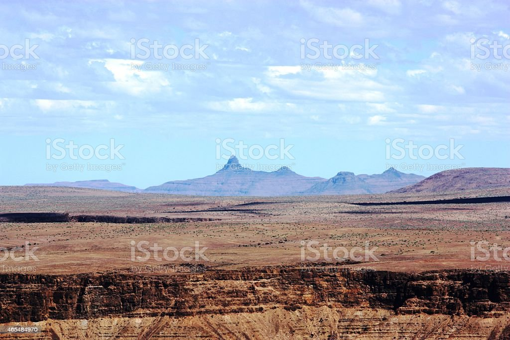 Fish River Canyon, Namibia, second largest canyon in the world stock photo