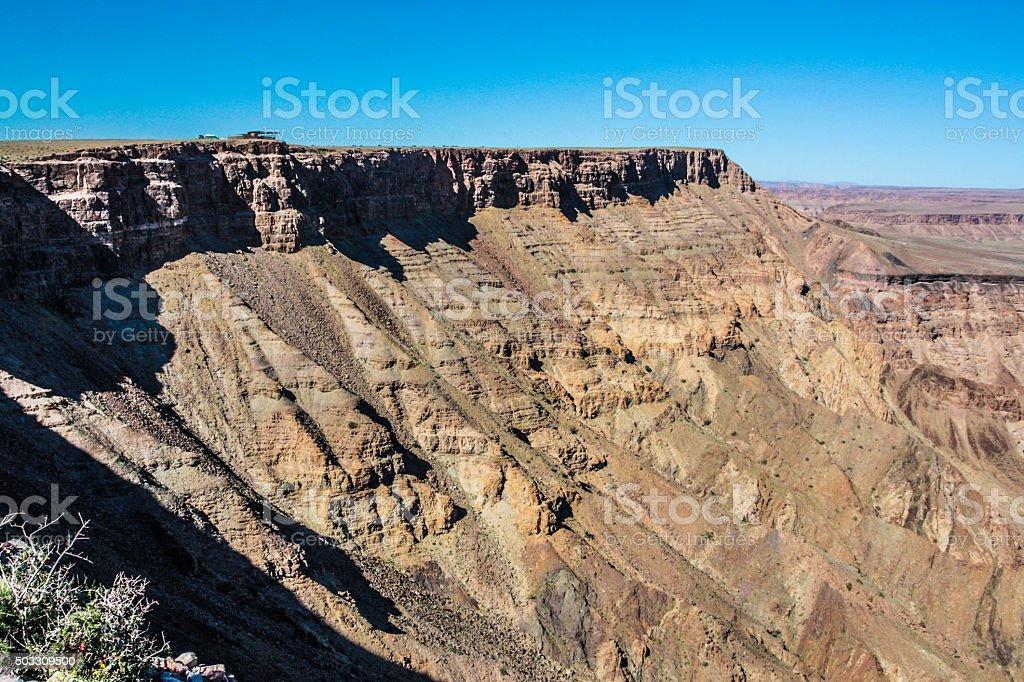 Fish River Canyon Viewpoint stock photo