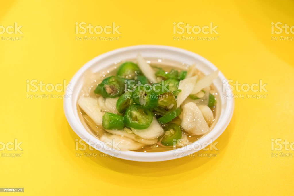 fish sauce with chili and garlic , Thailand Food stock photo