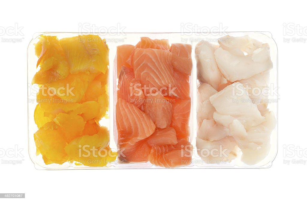 Fish selection isolated on white royalty-free stock photo
