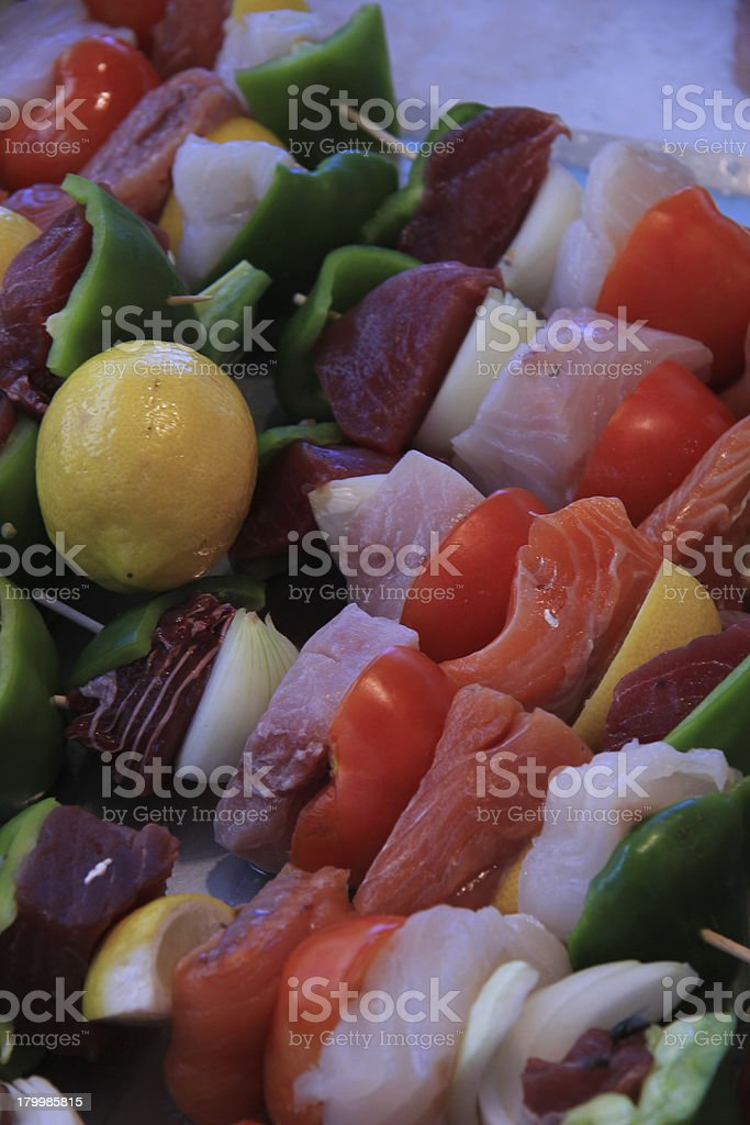 Fish shashlik royalty-free stock photo