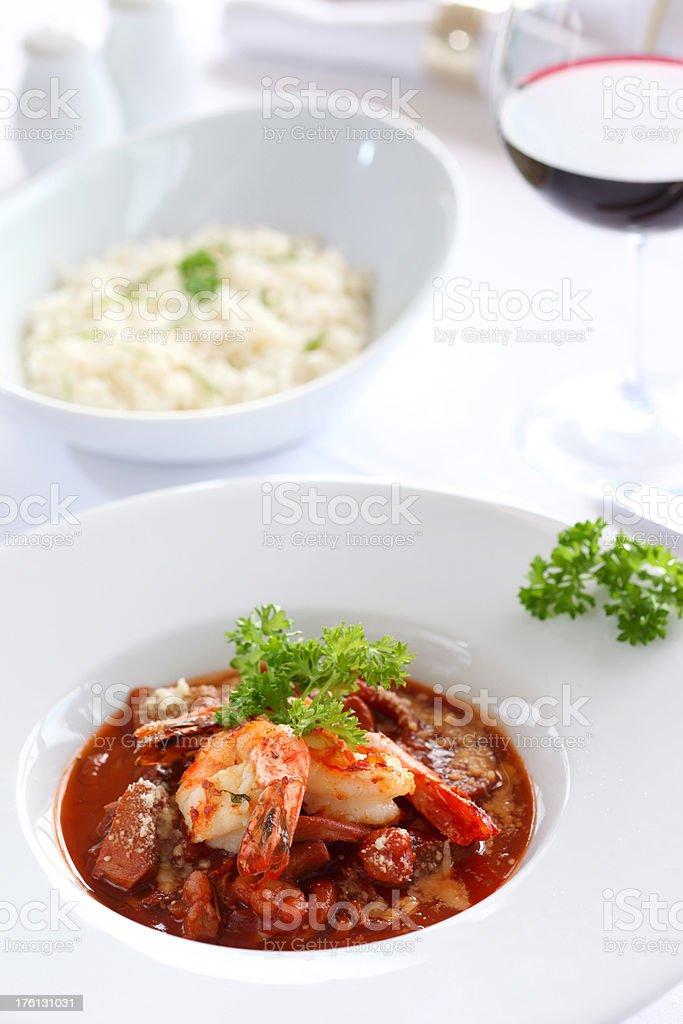 Fish & Shrimp Stew royalty-free stock photo