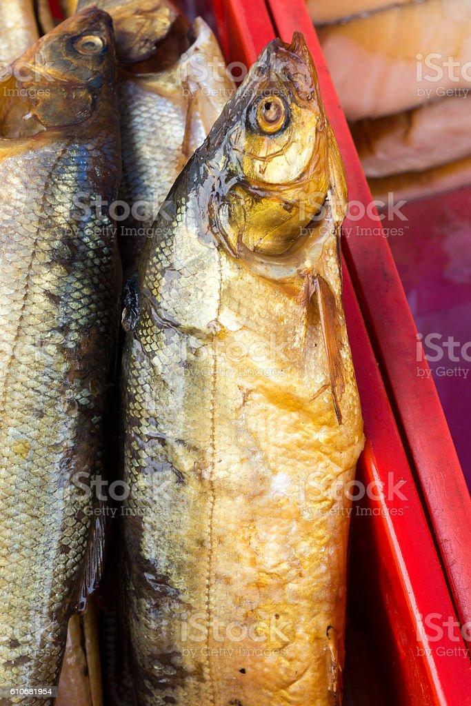 fish smoked herring sprat stock photo