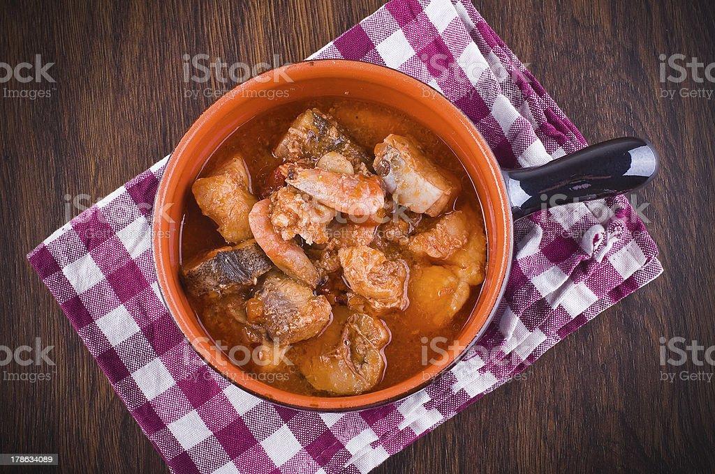 Fish soup. stock photo