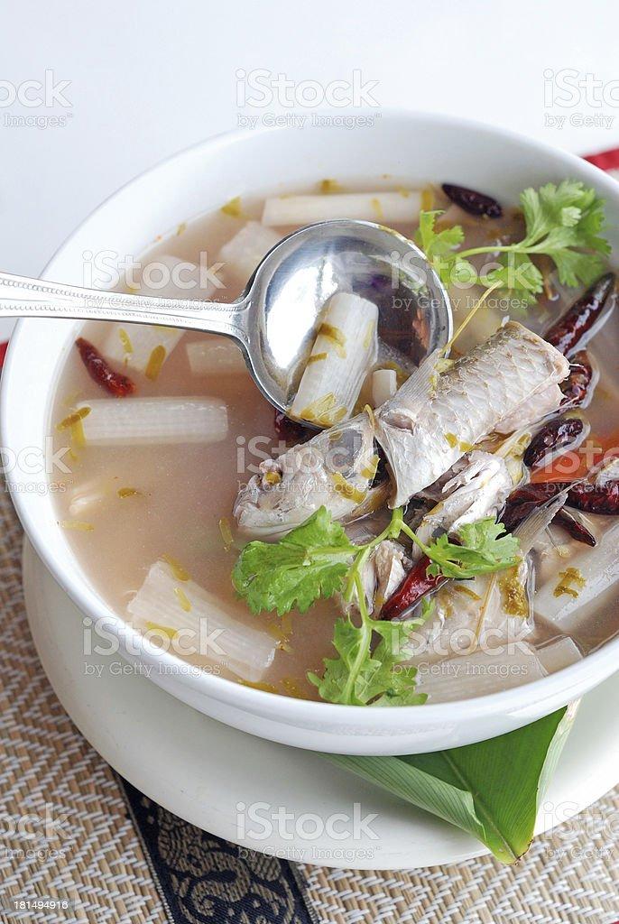 fish sour soup royalty-free stock photo