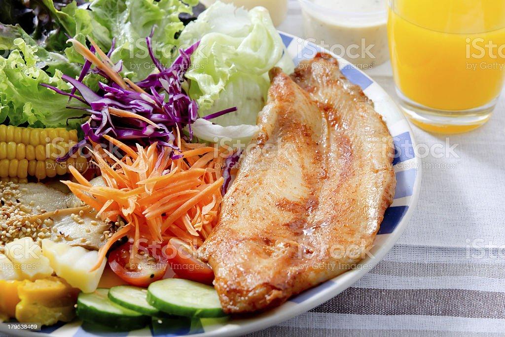 Fish steak menu royalty-free stock photo