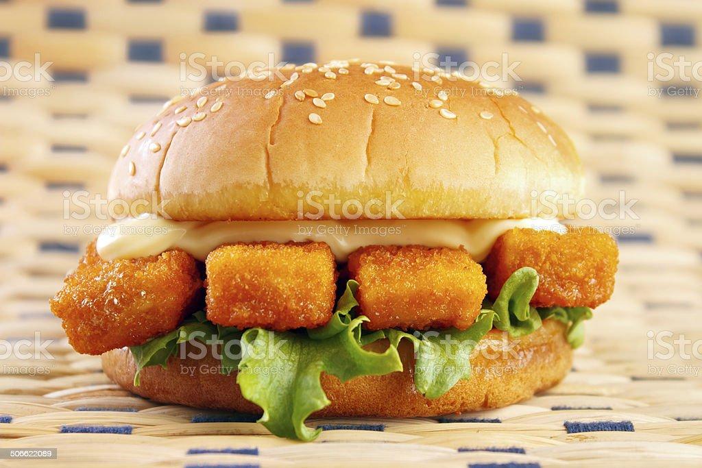 Fish stick burger royalty-free stock photo