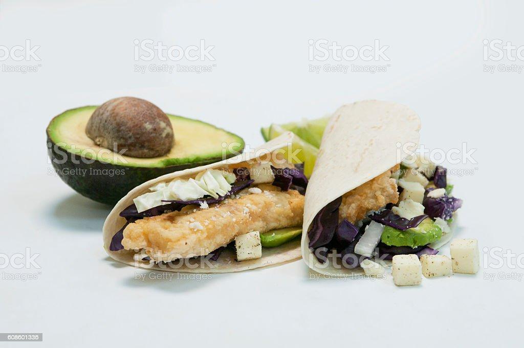Fish taco stock photo
