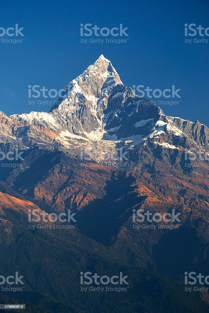 Fish tail mountain stock photo