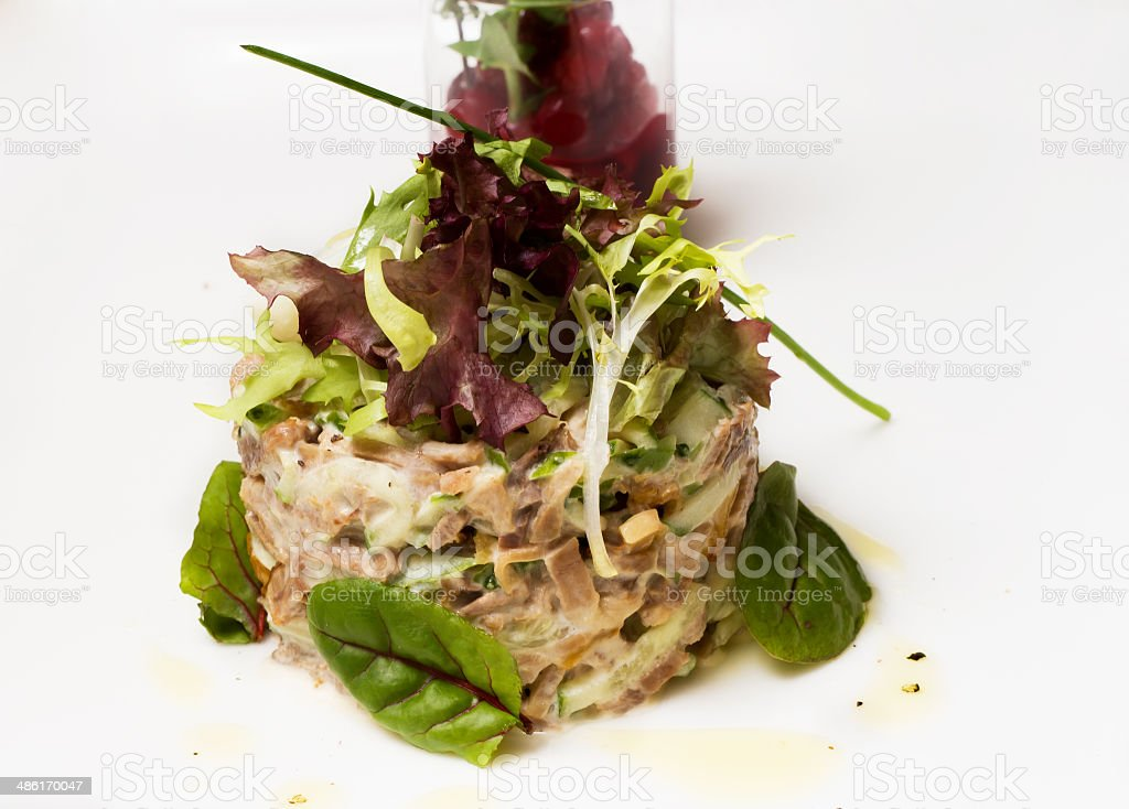 Fish tartare royalty-free stock photo