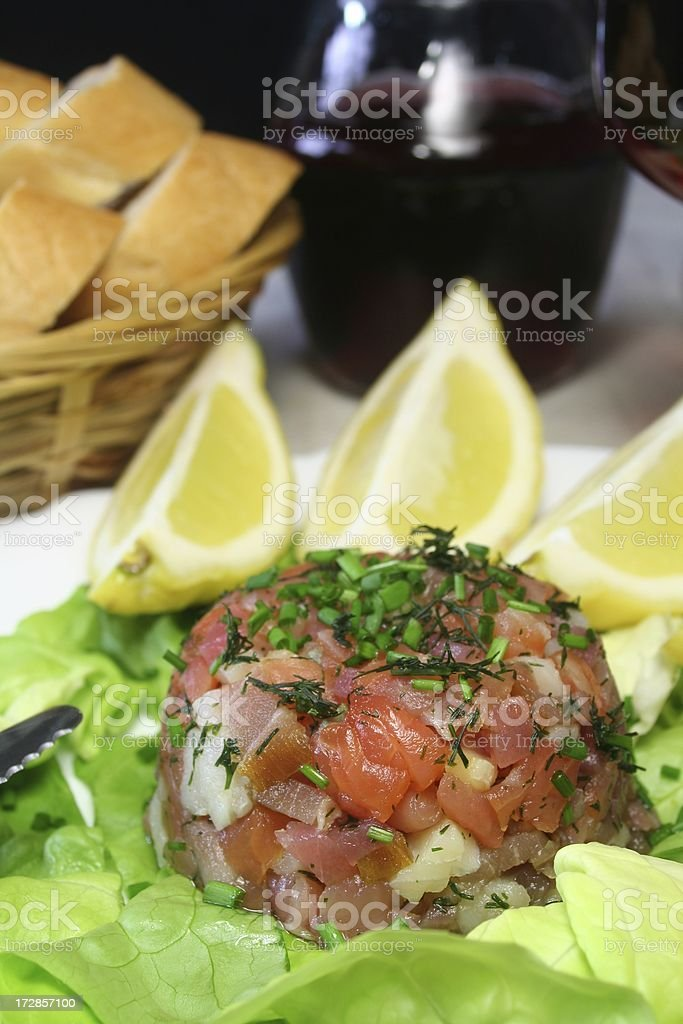 Fish Tatar stock photo