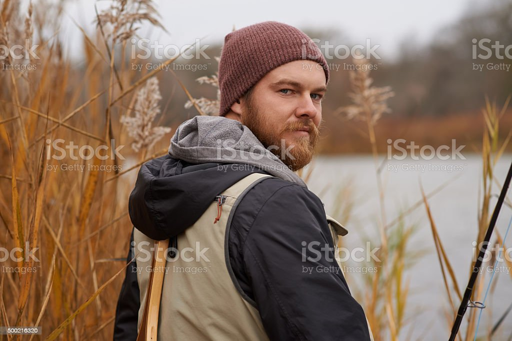 Fish tremble when they hear my name stock photo