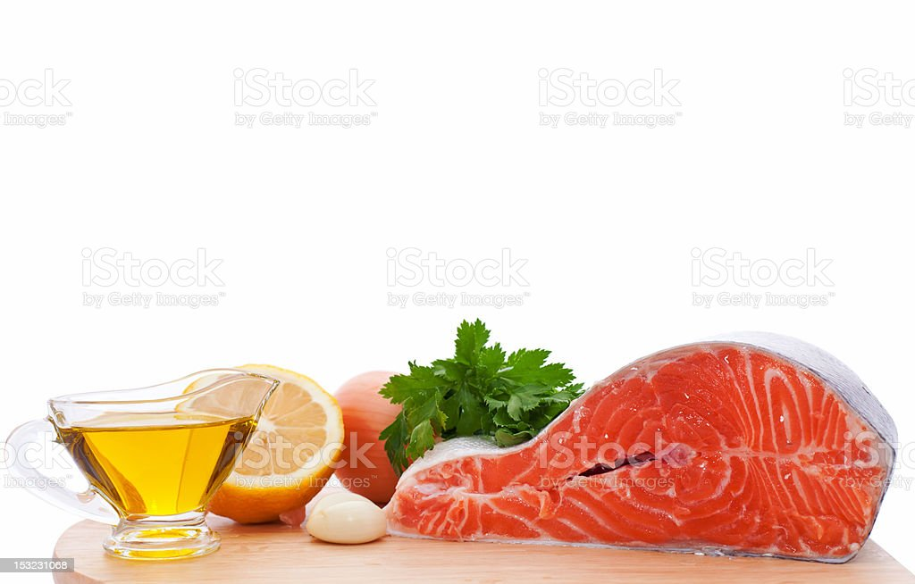 fish trout and spices royalty-free stock photo
