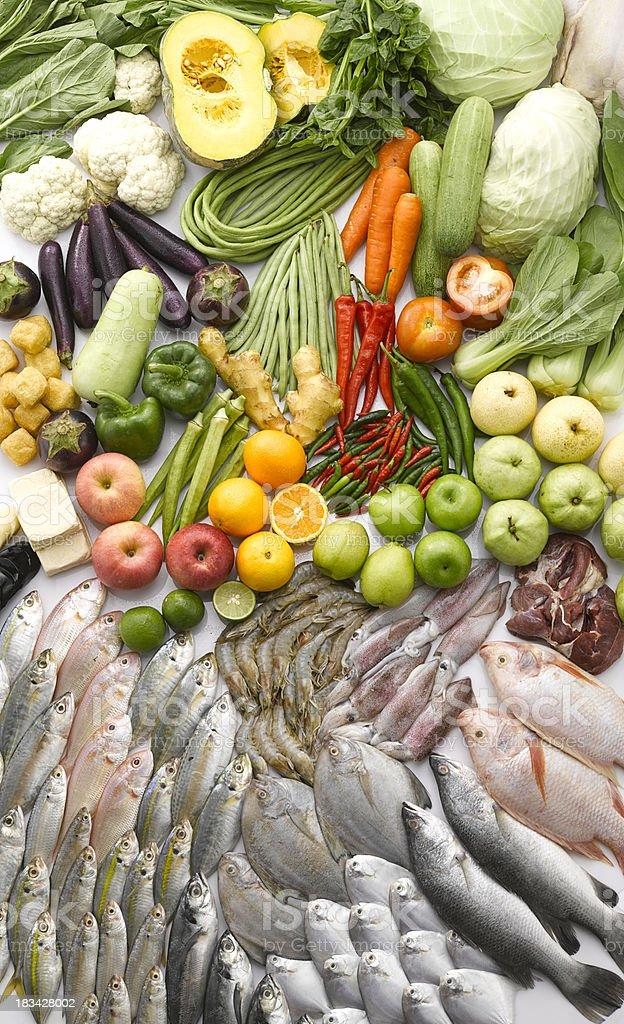 Fish & Vegetable stock photo