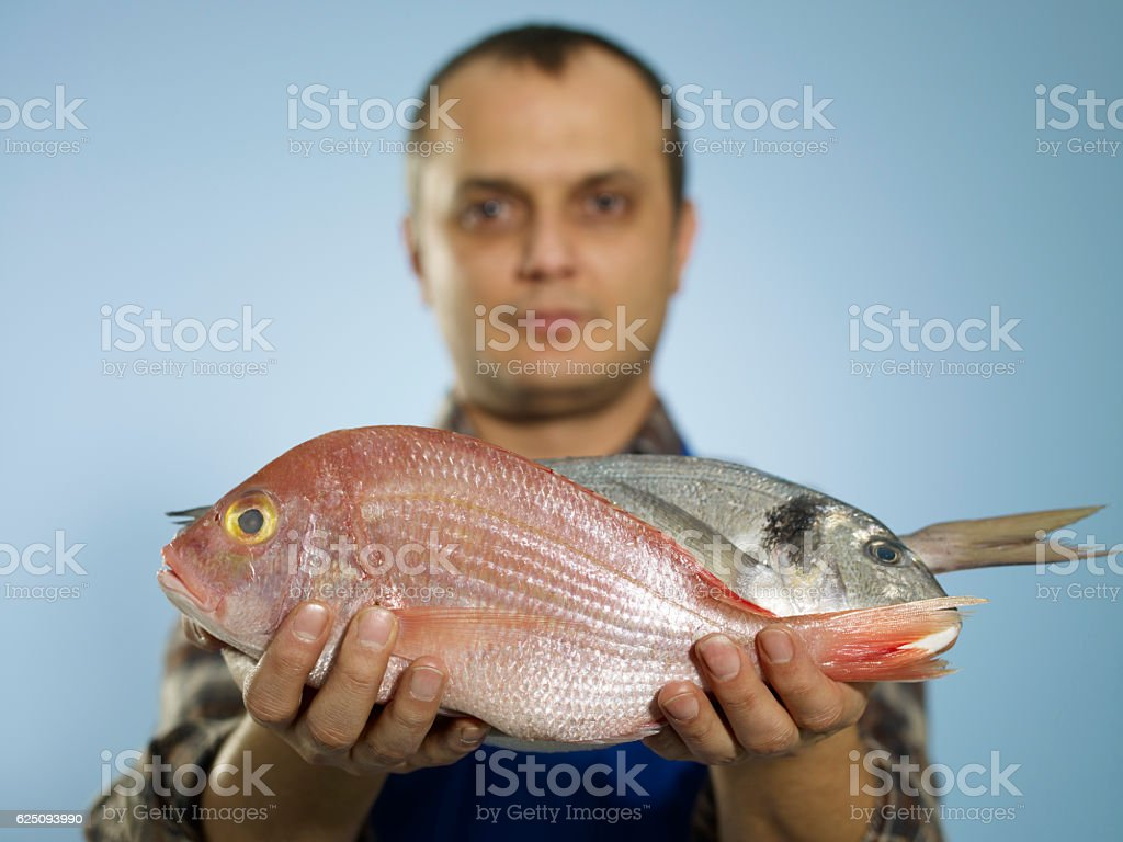 Fish Vendor stock photo