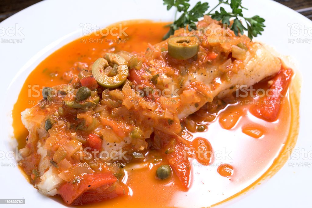 Fish Veracruzana stock photo