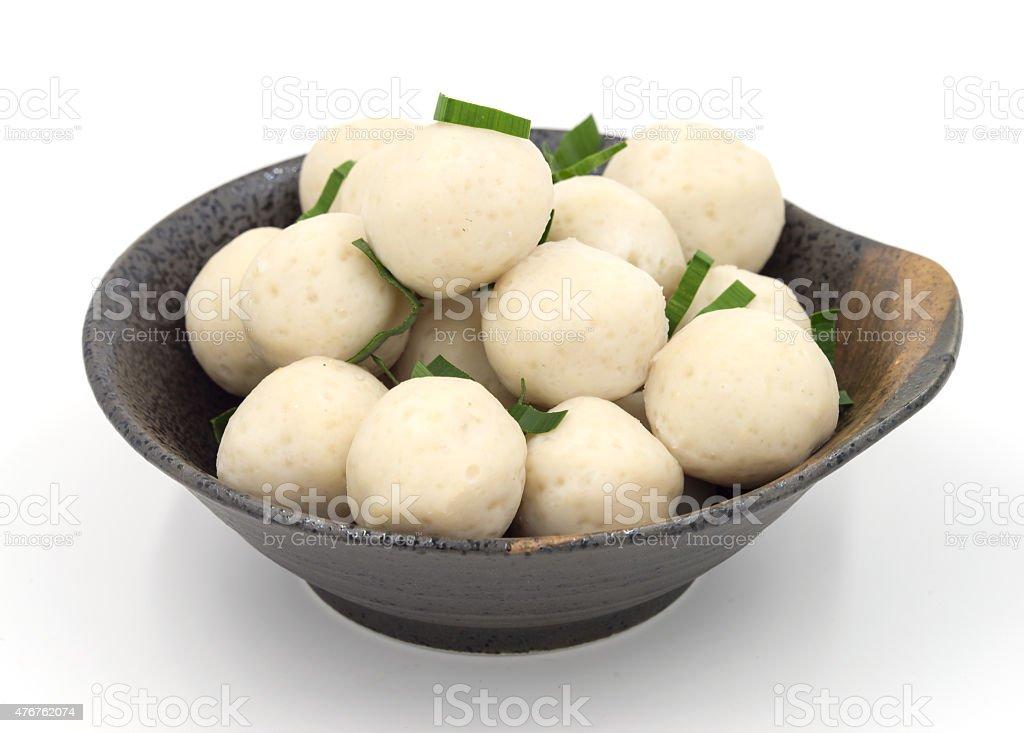 Fishballs on  white background. stock photo