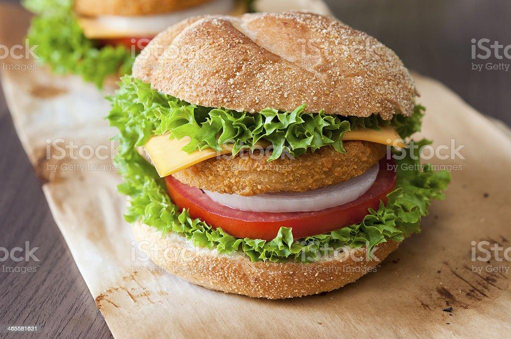 Fishburger close up royalty-free stock photo