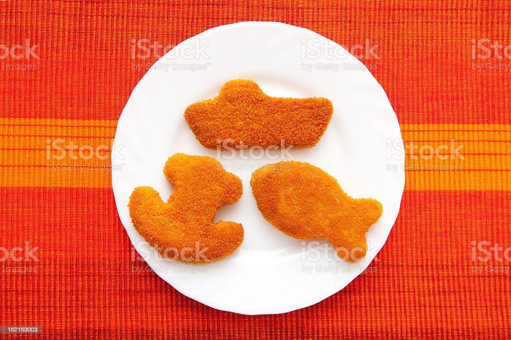 Fishcakes stock photo