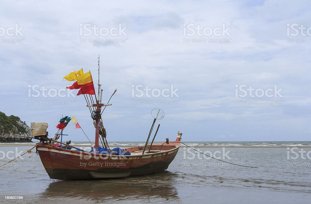 Fisher boat royalty-free stock photo