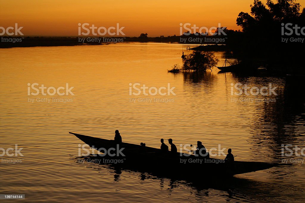 Fisher in Mali royalty-free stock photo