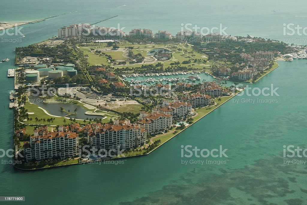 Fisher Island in Miami royalty-free stock photo