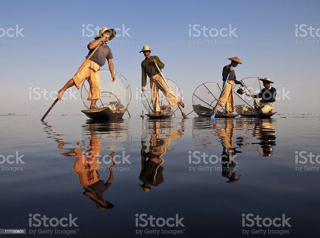 Fisher, Myanmar stock photo