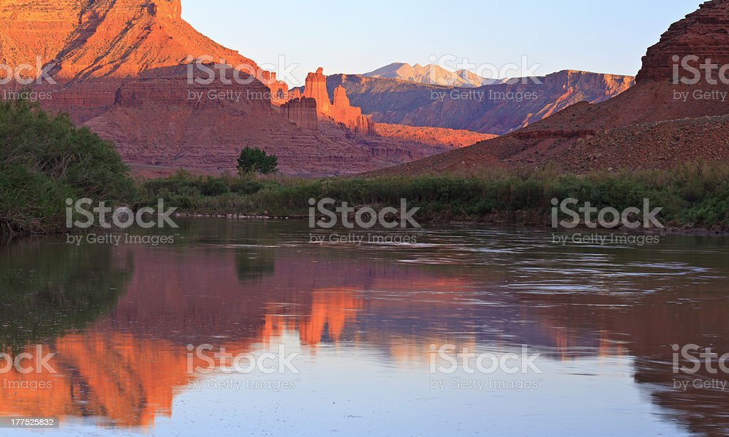 Fisher Powers and Colorado River Panorama stock photo