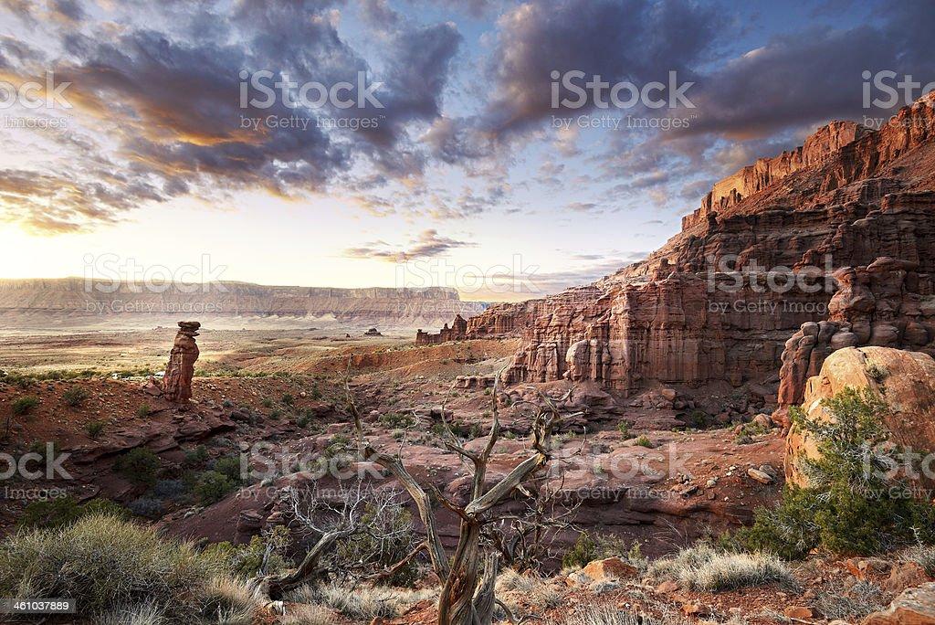 Fisher Towers Area Utah Landscape stock photo