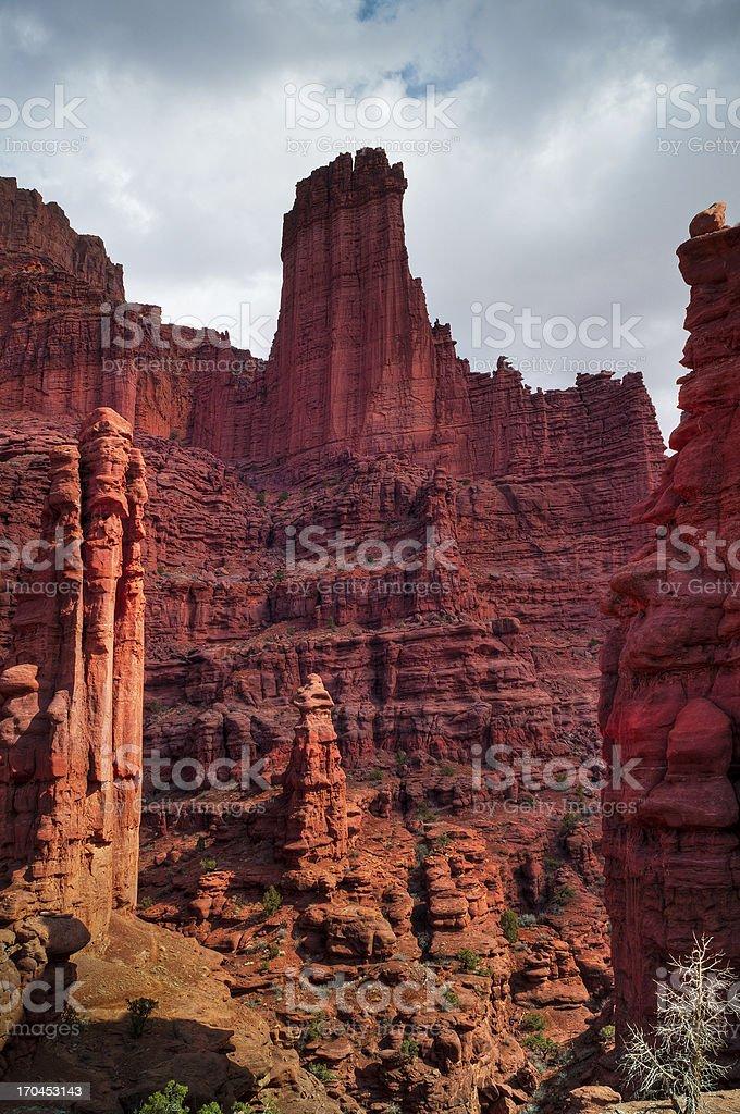 Fisher Towers, Moab, Utah, USA stock photo