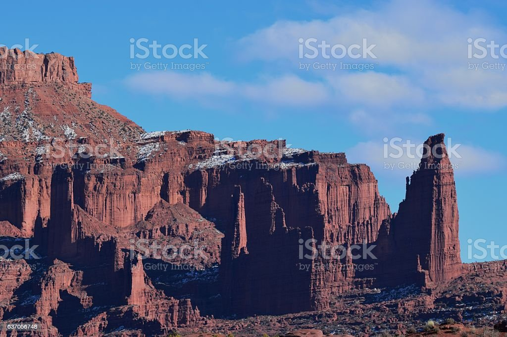 Fisher Towers stock photo