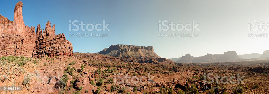 Fisher Towers Southern Utah Near Moab stock photo