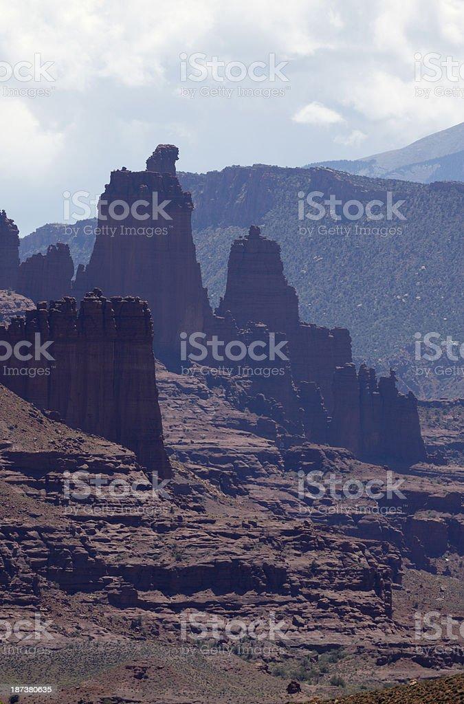 Fisher Towers, Utah, USA stock photo